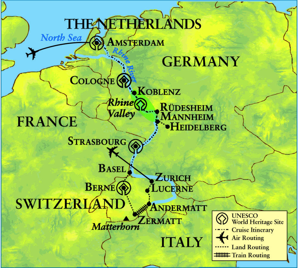 Great Journey Through Europe The Netherlands Germany France – Map of Germany and Holland Together
