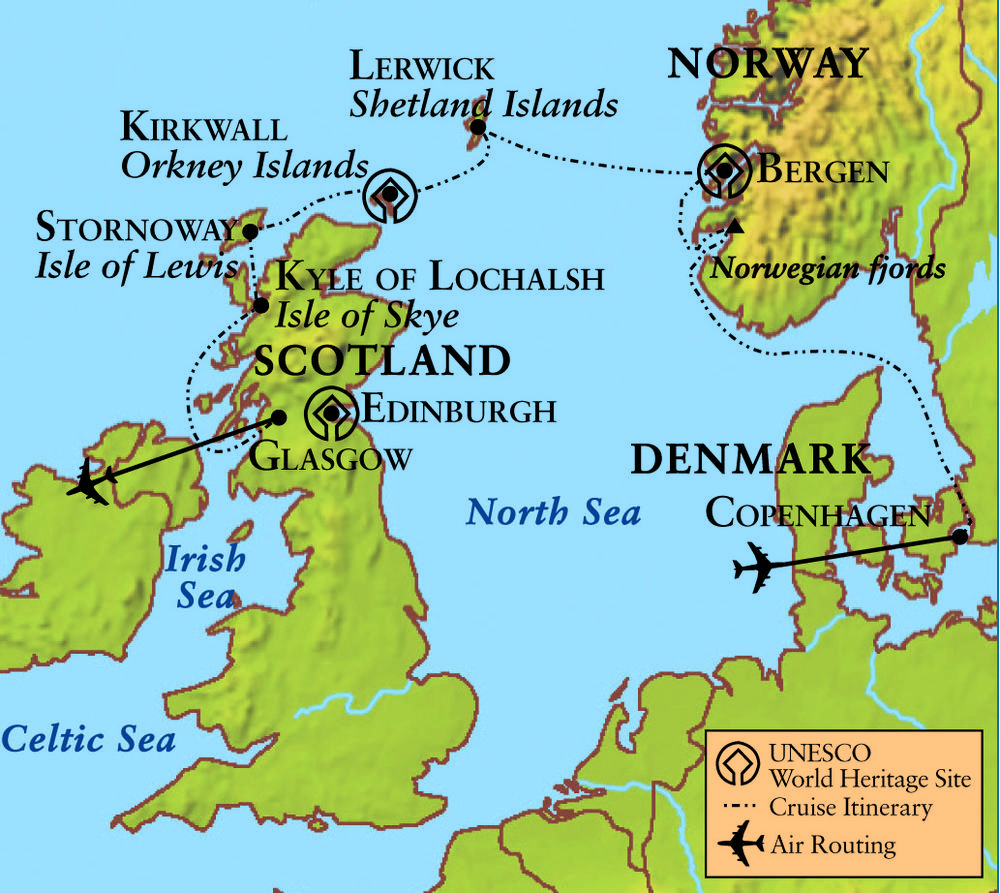 In the Wake of the Vikings Denmark Norway and Scotland – Travel Map Of Scotland