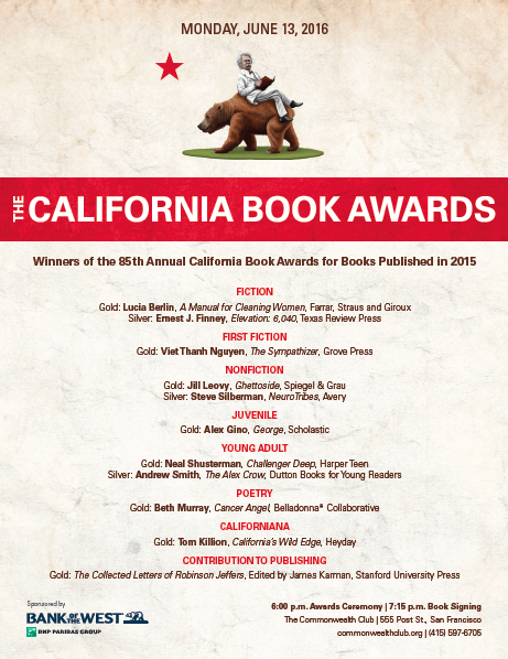 Winners of the 85th California Book Awards
