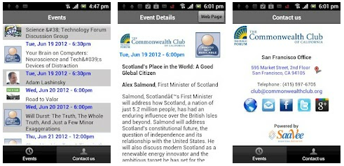 Commonwealth Club Android mobile app