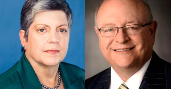 Janet Napolitano and Mark Yudof