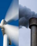 Image - windmill and smokestack