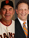 Image - San Francisco Giants' Bruce Bochy and Larry Baer